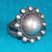 Gorgeous Sterling Silver Southwestern Dome Design Vintage Estate Ring