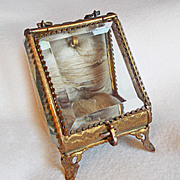 SOLD Antique VICTORIAN Pocket Watch Holder Display Jewelry Box