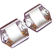 Gorgeous ANSON STERLING Silver Signed Vintage Estate Cufflinks