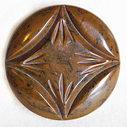 Gorgeous CARVED BAKELITE Vintage Estate Large Button