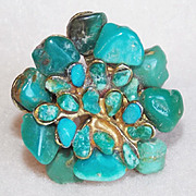 Gorgeous SWOBODA Vintage Gemstone Ring