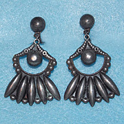 Fine MEXICAN STERLING Signed Vintage Dangle Earrings