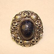 Fabulous MEXICAN SILVER Signed Huge Vintage SECRET COMPARTMENT Ring