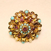 Gorgeous Vintage FANCY JEWELED Costume COCKTAIL RING