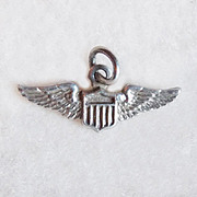 Tiny Sterling WWII Army Air Corps Wings Vintage Charm