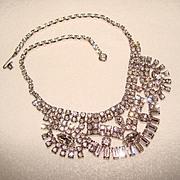 Fabulous HUGE Vintage RHINESTONE Necklace