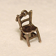 Awesome STERLING Charm TINY CHAIR