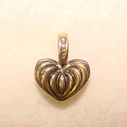 Lagos Sterling Signed Caviar Collection HEART SHAPED PENDANT