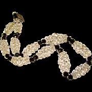 Fabulous ROCK CRYSTAL Quartz Art Deco Vintage Necklace