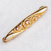 Tiny VICTORIAN Antique 10K Gold Pin Brooch