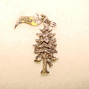 Awesome STERLING Charm MAJESTIC TREE