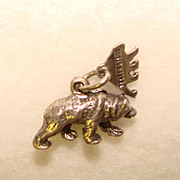 Awesome STERLING Charm YELLOWSTONE BEAR