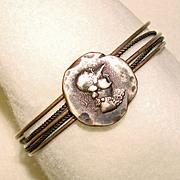 Fabulous Antique STERLING ETRUSCAN Design Estate bracelet