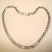 Brilliant Sparkling DENTELLE RHINESTONE Vintage Necklace