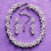 Fabulous LISNER Signed Rhinestone Vintage Necklace Set