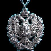 SALE Fabulous ITALIAN 800 SILVER Lady Bird & Snake Vintage Pendant Necklace