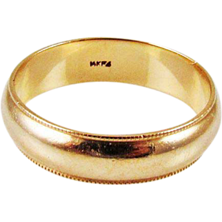 SALE 14KG Mens or Unisex Wedding Band – 5.5 grams - Size 11