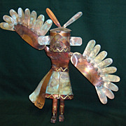 SOLD Copper Kachina Sculpture By Dale Andersen