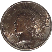 SOLD 1922 Peace Silver Dollar U.S. Coin
