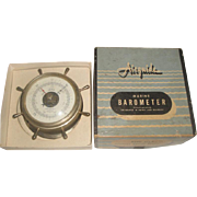 SOLD Vintage Airguide 213-B Marine Barometer ~ Ship's Wheel Spokes