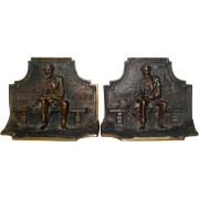 SOLD Vintage Solid Bronze Bookends with President Abraham Abe Lincoln