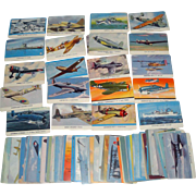 SOLD RARE 99 Vintage Aeroplane & U.S. Navy Trading Cards from Card-O Chewing Gum