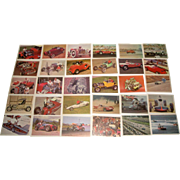 SOLD Vintage 1960s Hot Rod Magazine Auto Racing Trading Cards Series 1