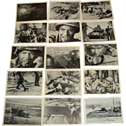 SOLD 12 Vintage Military Trading Cards 1964 COMBAT TV Show Series II +
