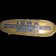 SOLD 1952 Democratic National Convention IOWA Corn Cob Pin