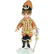 "SOLD French Slender All Bisque Soldier, All Original, 4 1/4"" tall"
