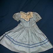 Vintage Miss Revlon Blue check doll dress free P&I US Buyers