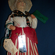 "10"" Signed Ravca  Cloth Doll Paris Free P&I US Buyers"