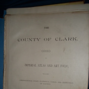 Oho The County of Clark Springfield 1894 Atlas Art Folio Maps Fee P&I US ...
