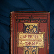 1800's illus Campbell's Poems Thomas Campbell Free P&I US Buyers