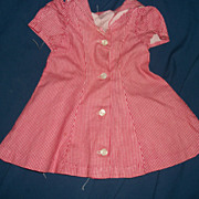 Cute check dress for 40's Effanbee Alexander teen type doll Free P&I US ...
