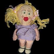 Old Talking Shrinking Violet Doll Needs tlc free P&I US Buyers