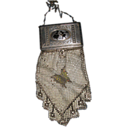 Whiting Davis Silhouette Compact Mesh Purse Butterfly El Sha Free P&I US Buyers