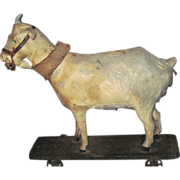 SOLD Wonderrful Antique German Old Goat Pull Toy Free P&I US Buyer