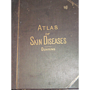 Rare 1876 Atlas Skin Diseases Duhring  Illustrated Free P&I US Buyers