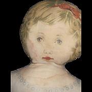 "26"" Old litho print Cloth Doll Free P&I US Buyers"