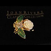 Gorgeous Joan Rivers Gardenia ltd. ed. Bumble Bee  Brooch Free P&I US Buyers
