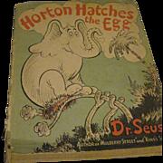 1940 Dr. Suess Horton Hatches the Egg DJ