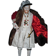 "Magnificent 17"" Artist Doll  Henry the 8th  Free P&I US Buyers"