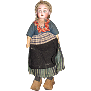 """9"""" Open Dome bisque head Dutch Doll free P&I US Buyers"""