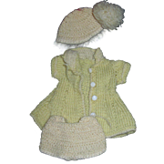 Pale Yellow Knit Sating outfit for Sonja Alexander, Hoyer dolls Free P&I US Buyers