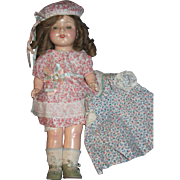 "17"" Vintage Compo Effanbee Rosemary doll w/ extra dress Free P&I US Buyers"