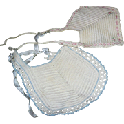 2 Vintage Crocheted Doll Bibs for Dy DeeTiny Ters and Friends Free P&I US Buyers