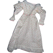 Lovely rose pattern Dress for China or Bisque doll Free P&I US Buyers