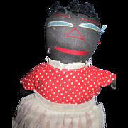 "12"" Black Mammy  Cloth Doll Free P&I US Buyers!"