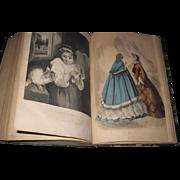 1862 Civil War Era Petersons Fashion Book Magazine Vol 41- 42 Free P&I US Buyers